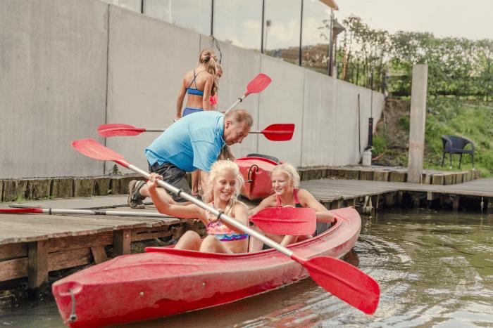 Kinderfeestje kanovaren & zwemmen 1