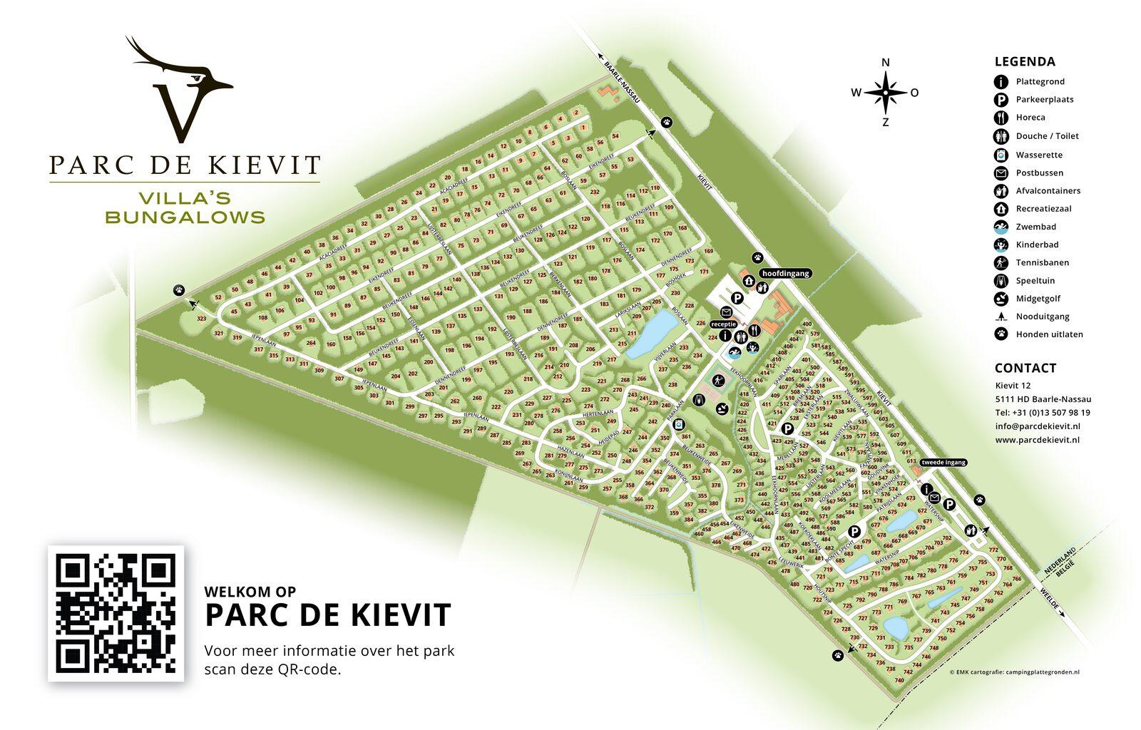 Plattegrond Parc de Kievit