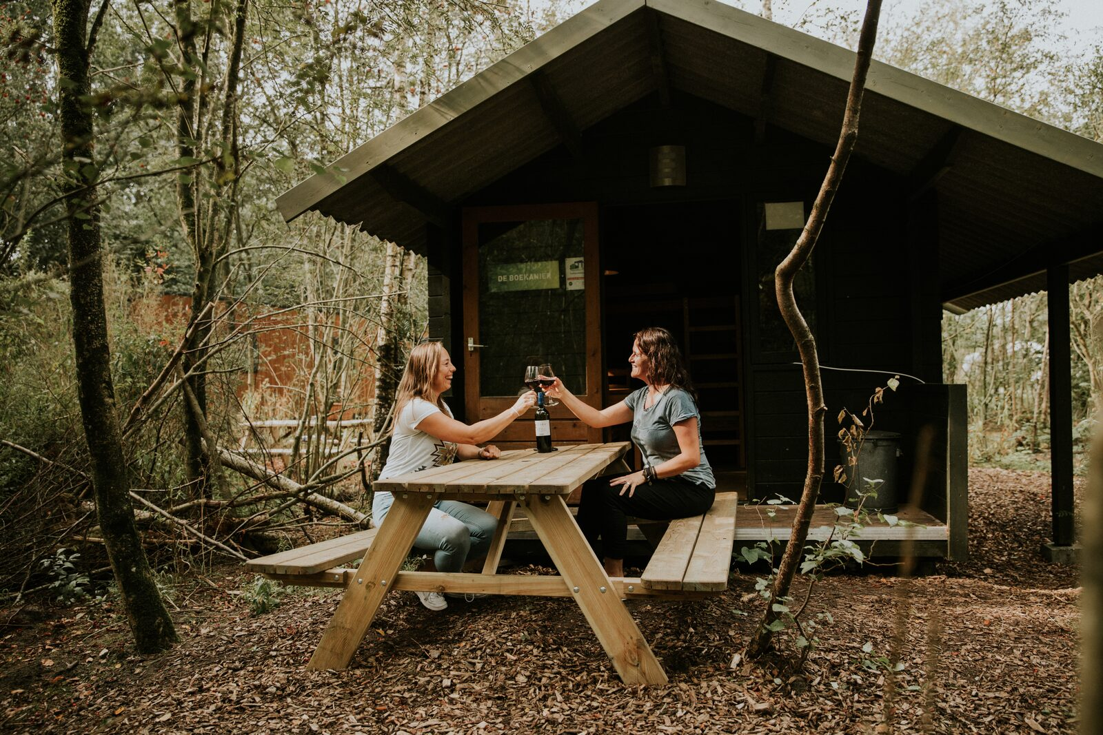 Camping met trekkershut