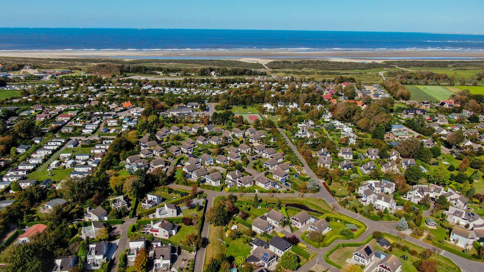 drone foto Noordzeepark