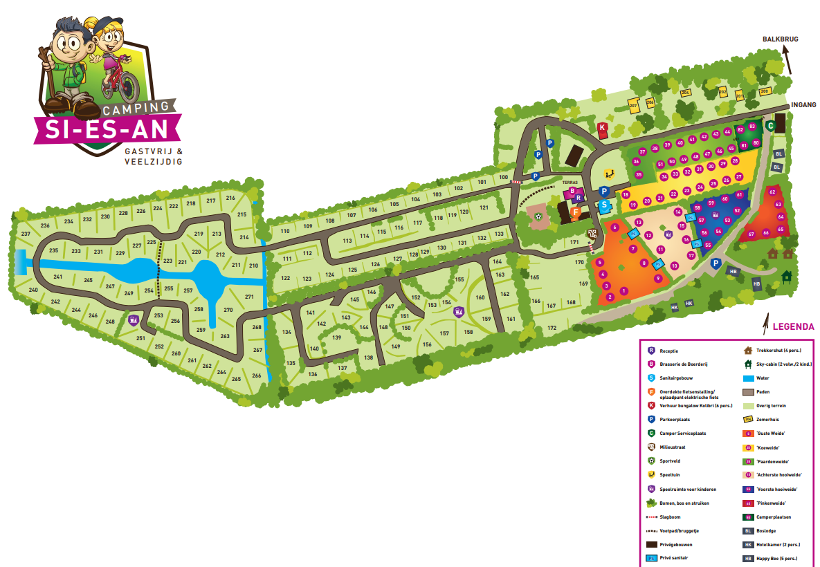 Plattegrond Camping Si-Es-An