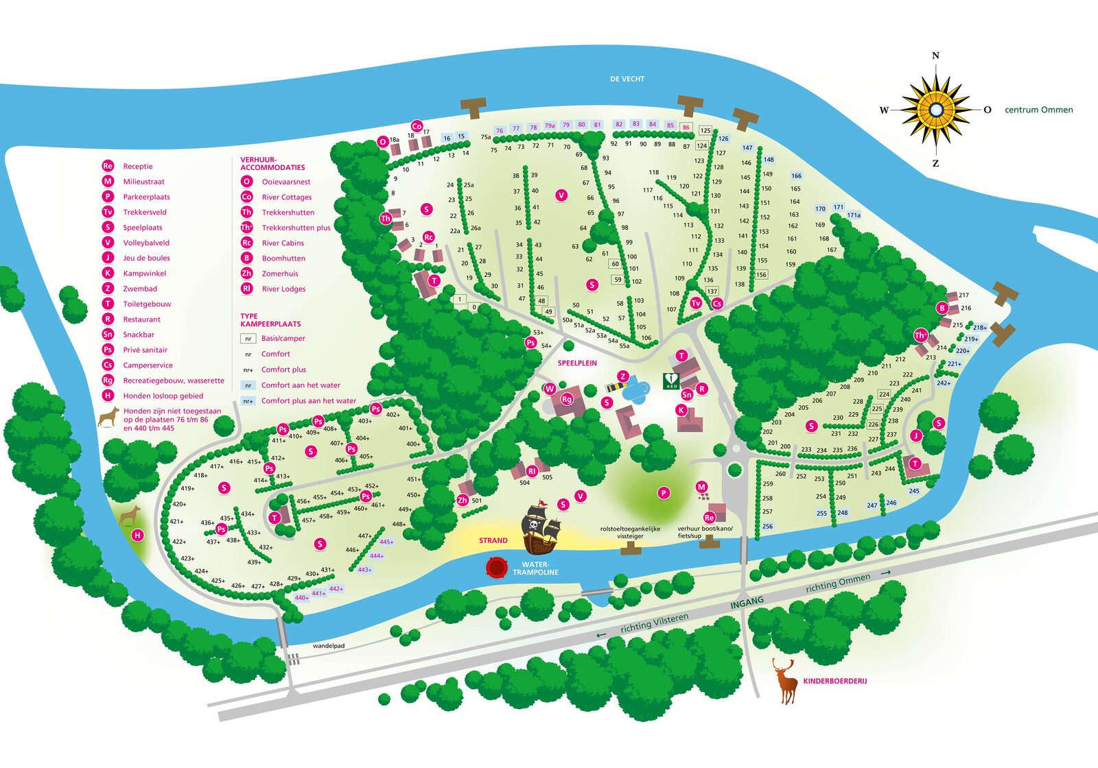 Plattegrond 2021 Camping de Koeksebelt