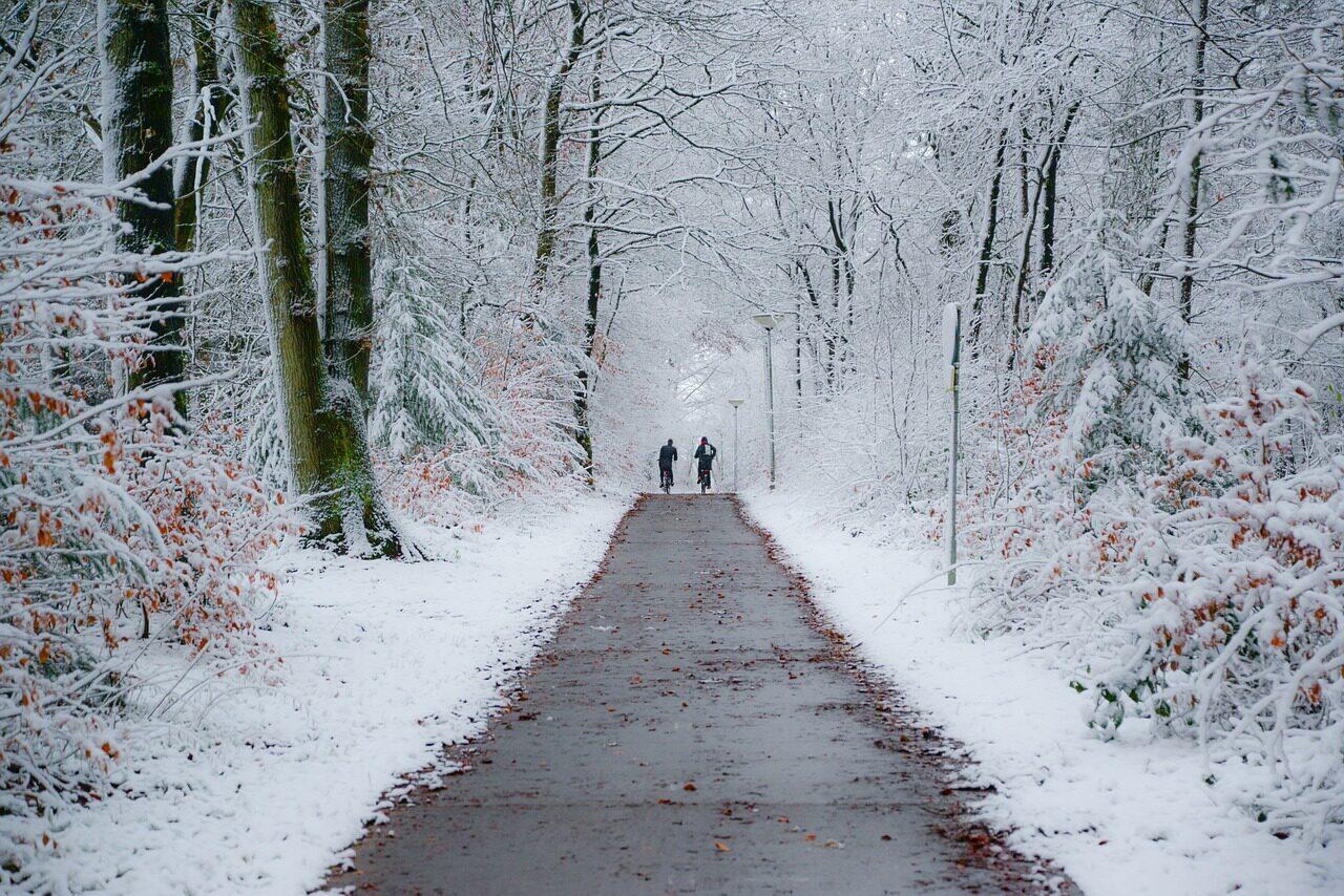 fietspad winter